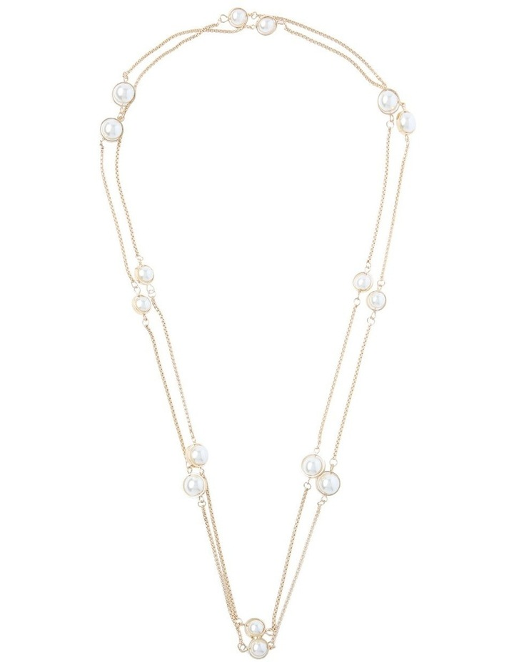 Station Necklace With Pearls image 2