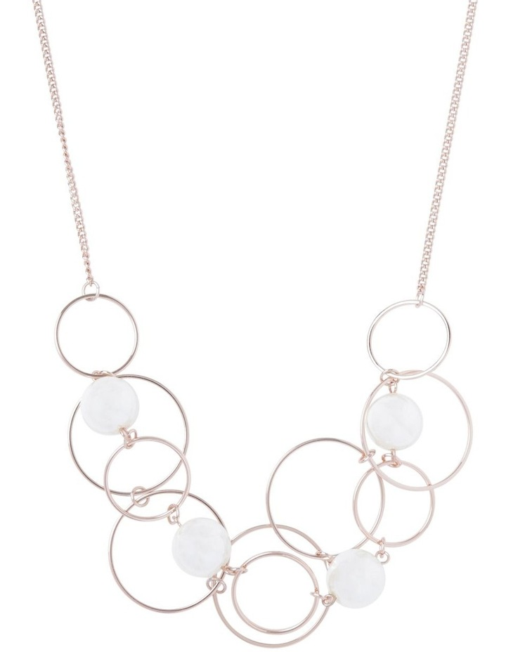 Multi Ring And Pearl Short Necklace image 1