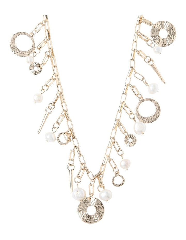 Molten Pearl Charm Necklace image 1