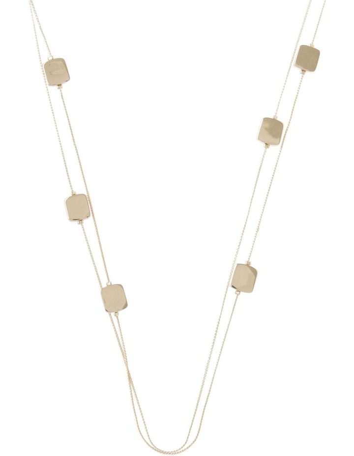 Smooth Edged Square Station Necklace image 1