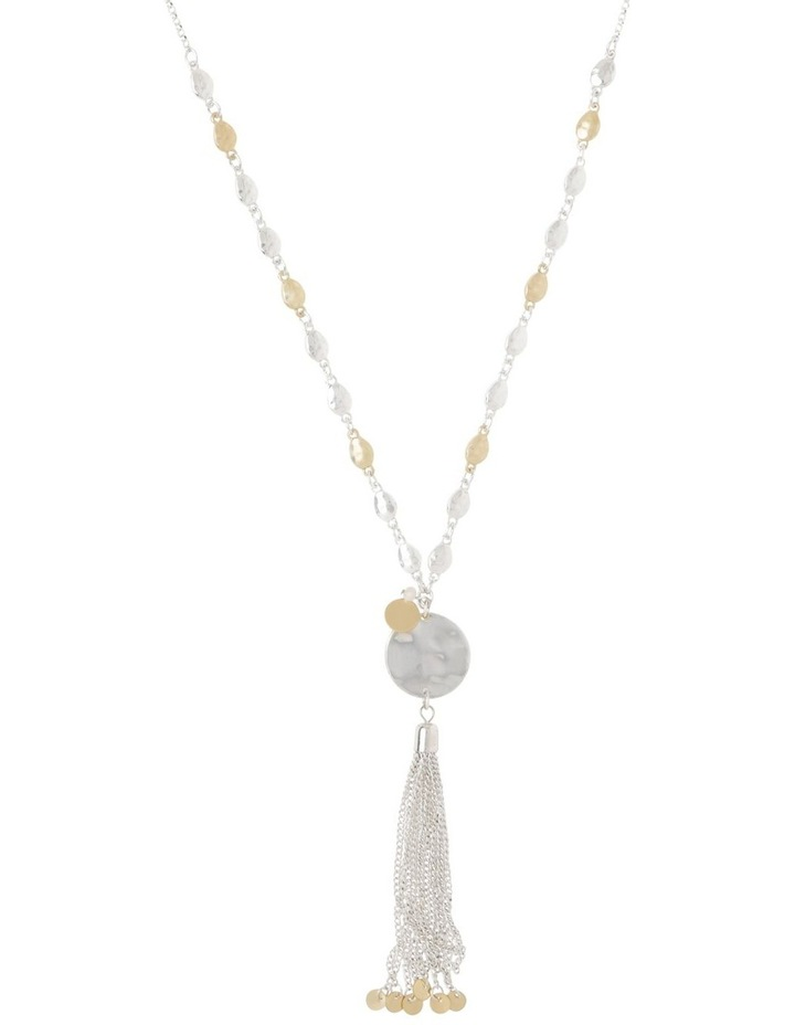 Disc Tassel Necklace image 1