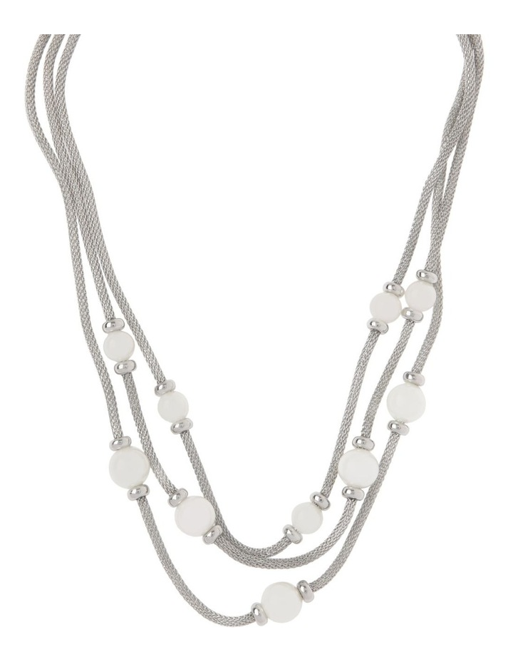 Multi Snake Chain Glass Pearl Necklace image 1
