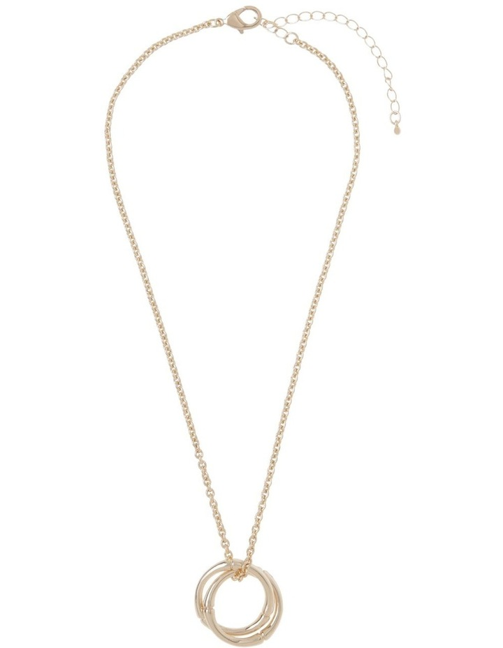 Bamboo Double-Hoop Necklace - Gold image 2