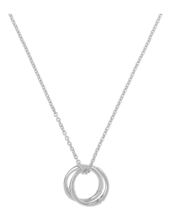 Bamboo Double-Hoop Necklace - Silver image 1