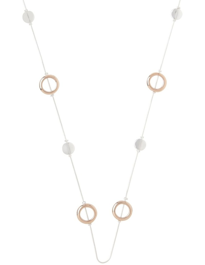 Mixed Metal Station Necklace image 1