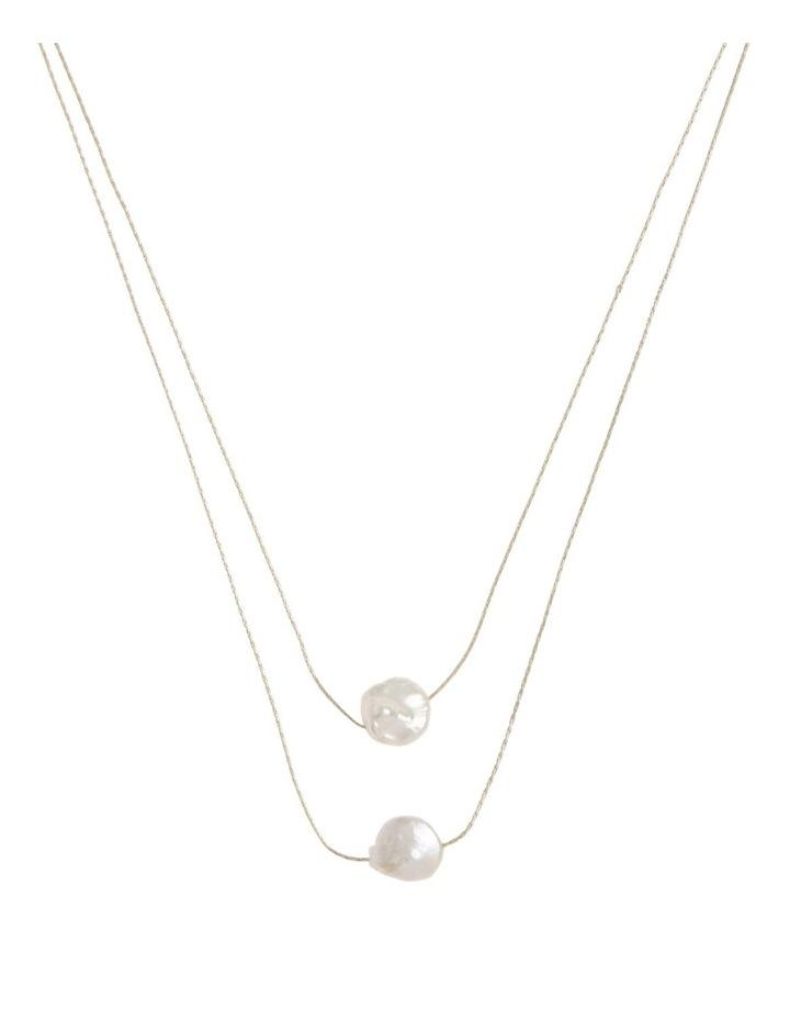 Double Layer Fine Necklace Short image 1