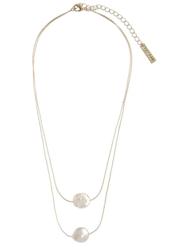 Double Layer Fine Necklace Short image 2