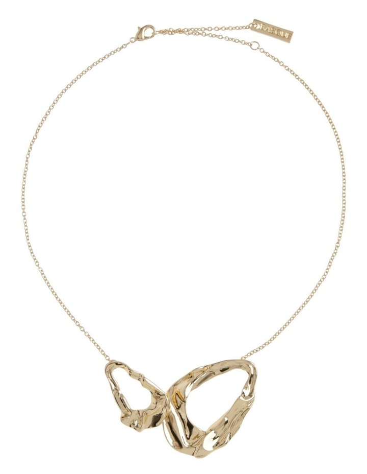 Abstract Short Necklace Gold image 2