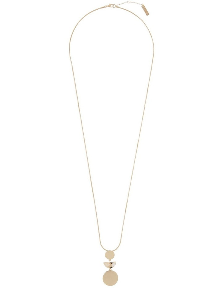 Long Geometric Necklace Gold Milky image 2