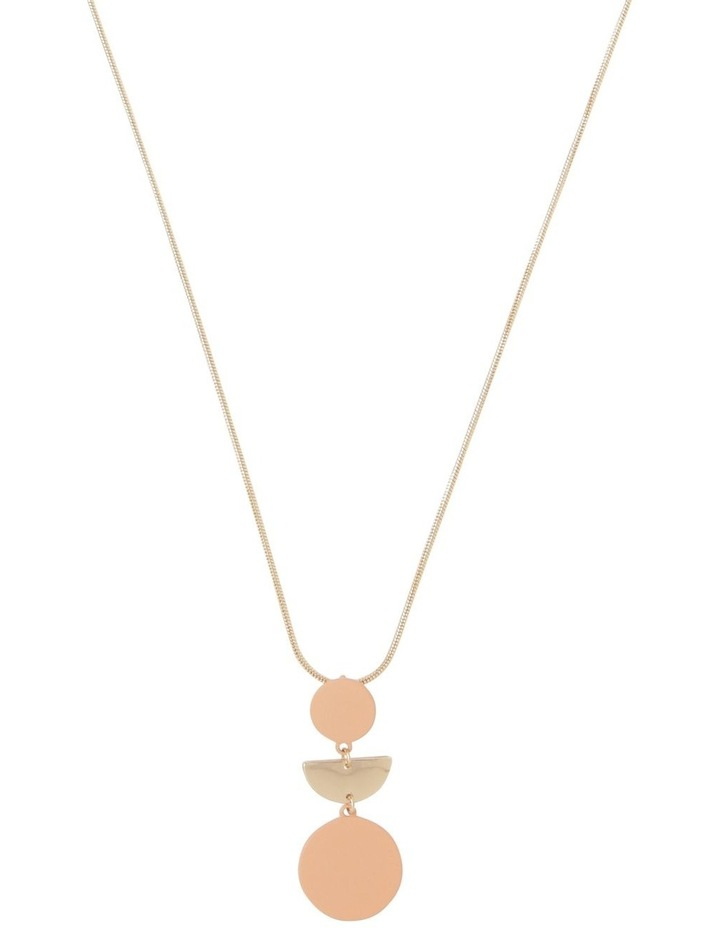 Long Geometric Necklace Gold Blush image 1