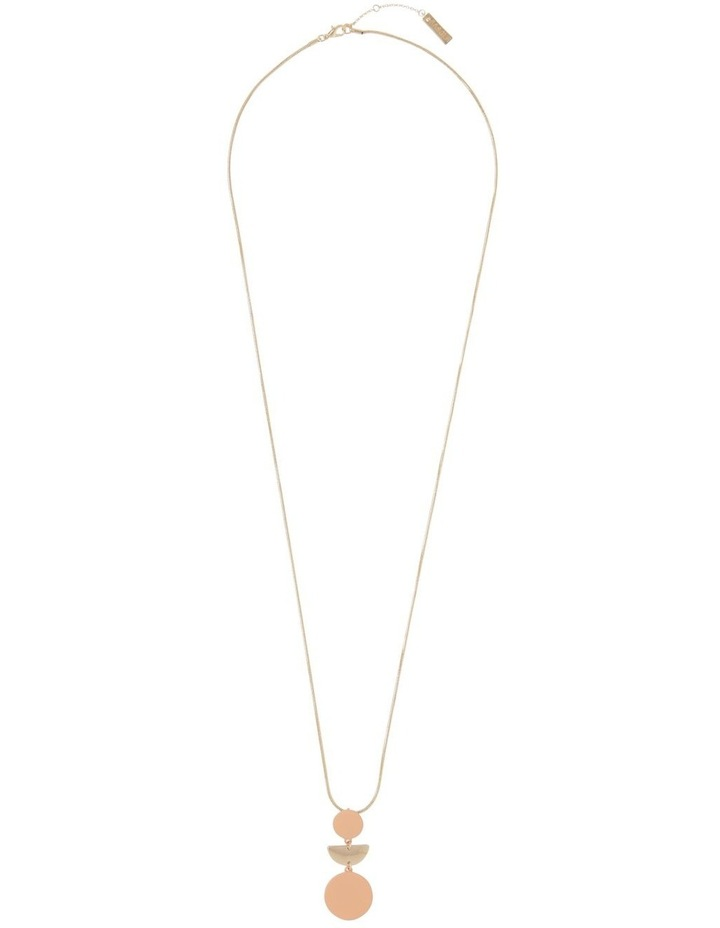 Long Geometric Necklace Gold Blush image 2