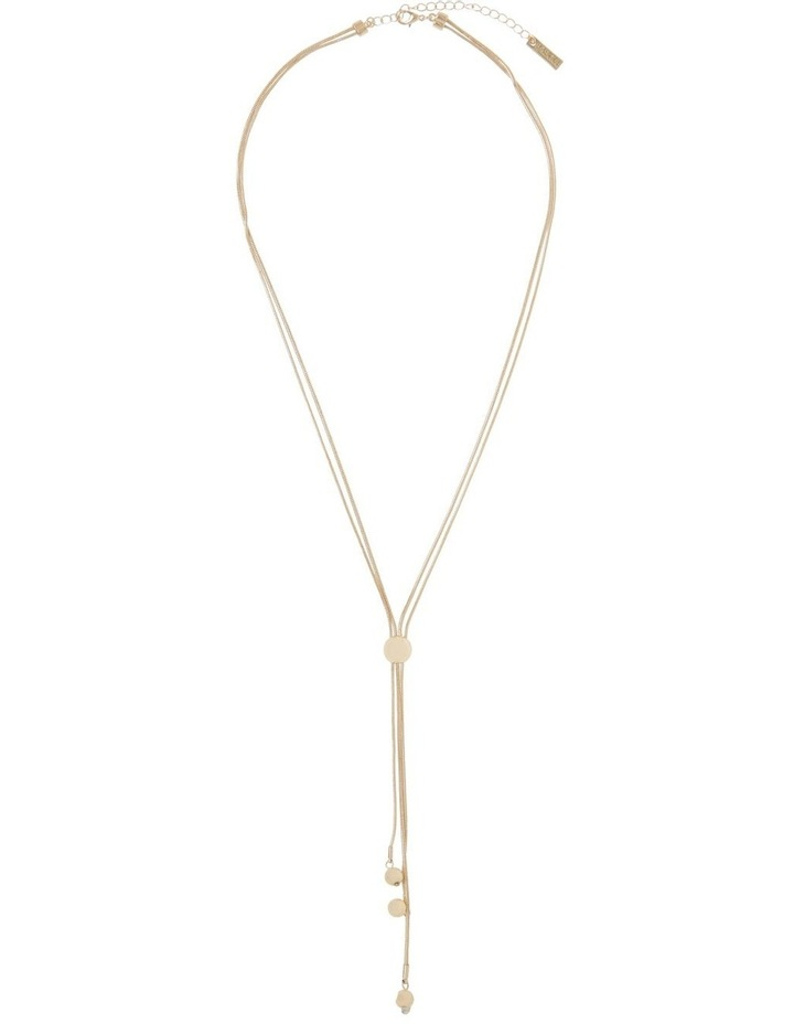 Ball Lariat Necklace Gold image 2