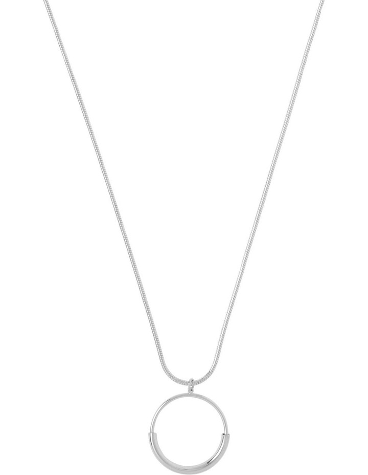 Circle Bar Pendant Silver image 1