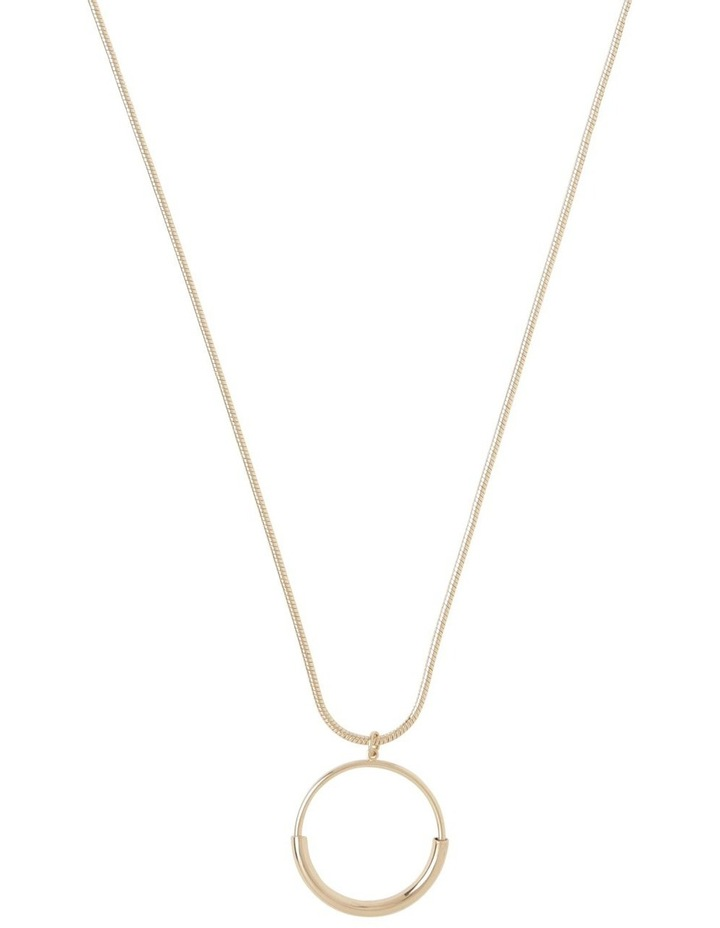 Circle Bar Pendant Gold image 1