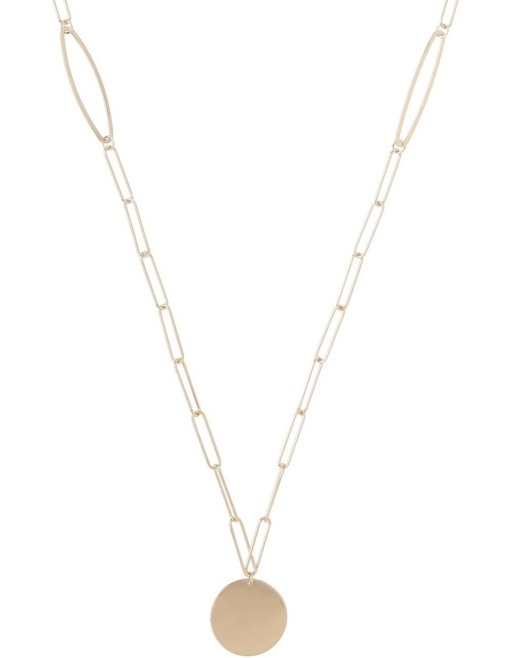 Paper Clip Chain Pendant Gold image 1