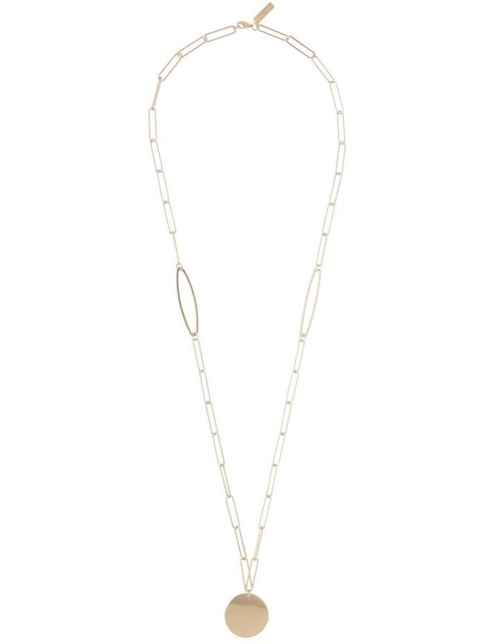 Paper Clip Chain Pendant Gold image 2