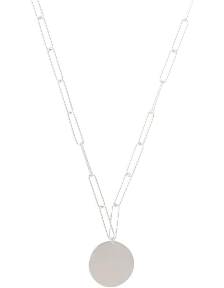 Silver Paper Clip Chain Pendant image 1