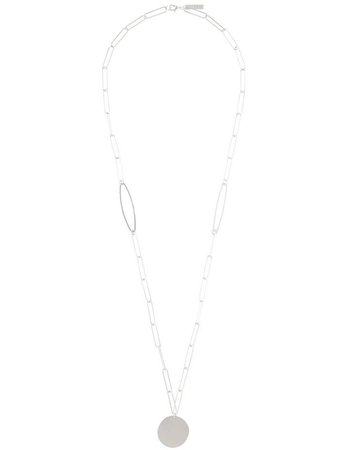 Silver Paper Clip Chain Pendant image 2