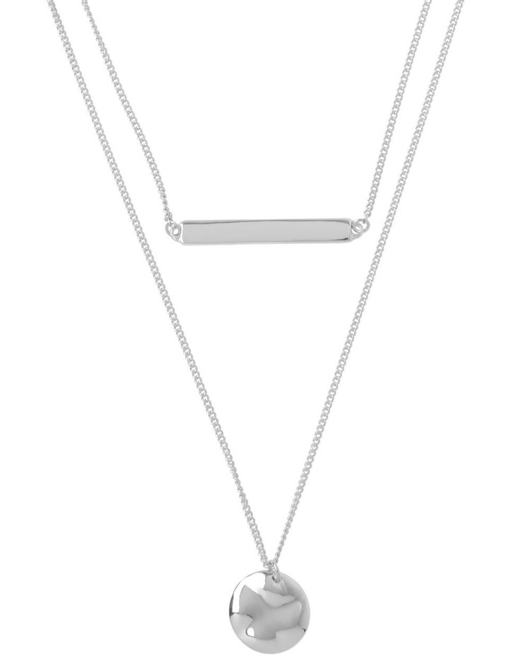 Double Bar Disc Necklace image 1