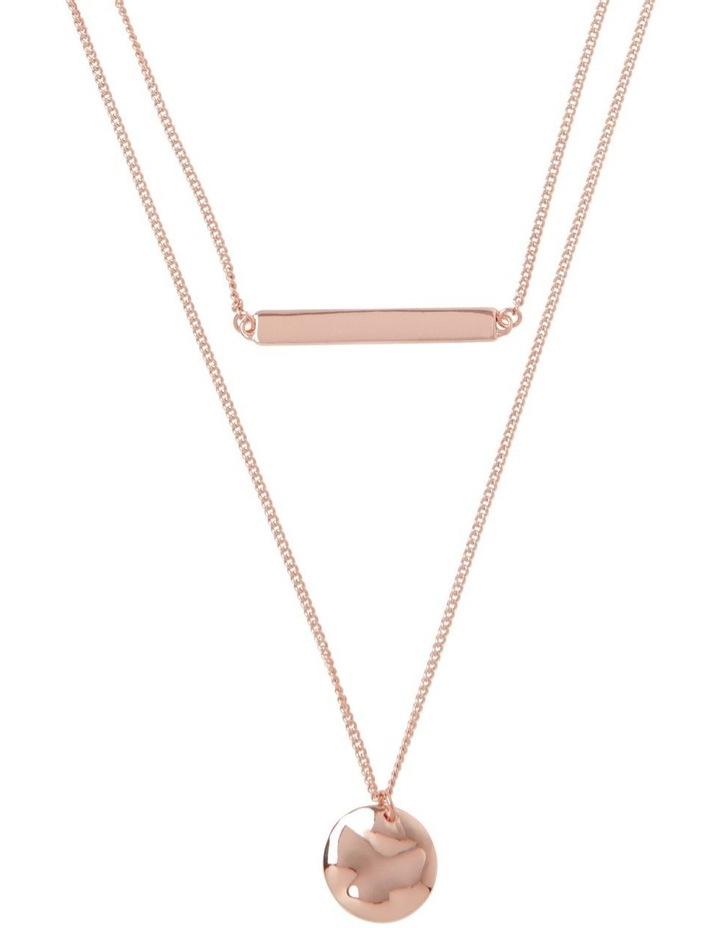 Double Bar Disc Necklace image 1