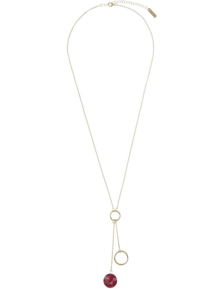 Wine Berry Hoop Drop Stone Necklace image 2