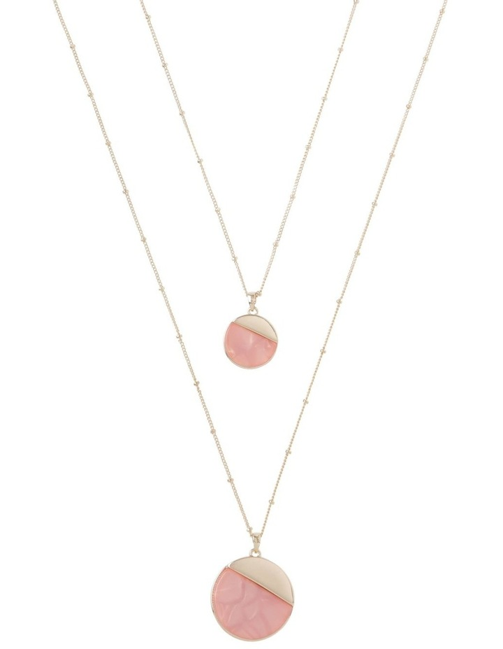 Duo Disc Pendant Necklace Blush image 1