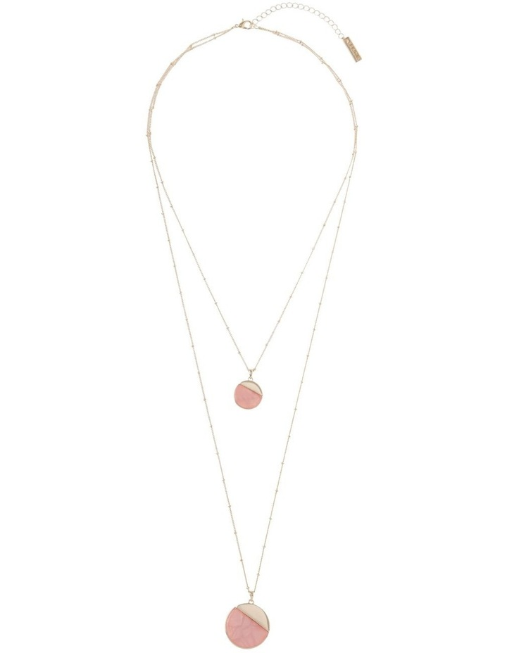Duo Disc Pendant Necklace Blush image 2