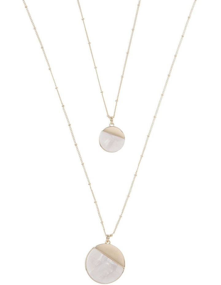 Ivory Duo Disc Pendant Necklace image 1