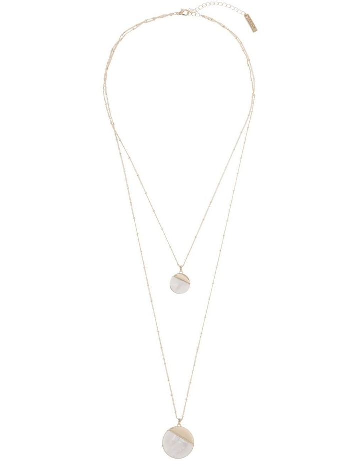 Ivory Duo Disc Pendant Necklace image 2
