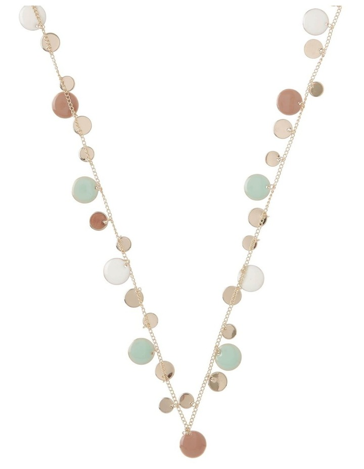Long Dancing Disc Station Necklace image 1