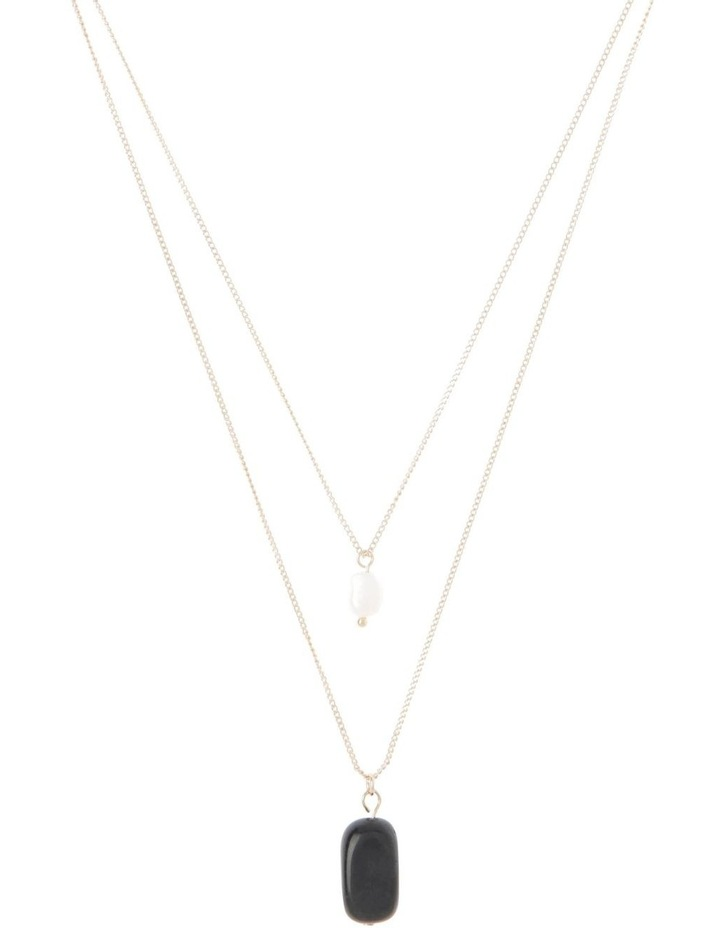 Semi Precious Double Layer Pendant Necklace image 1