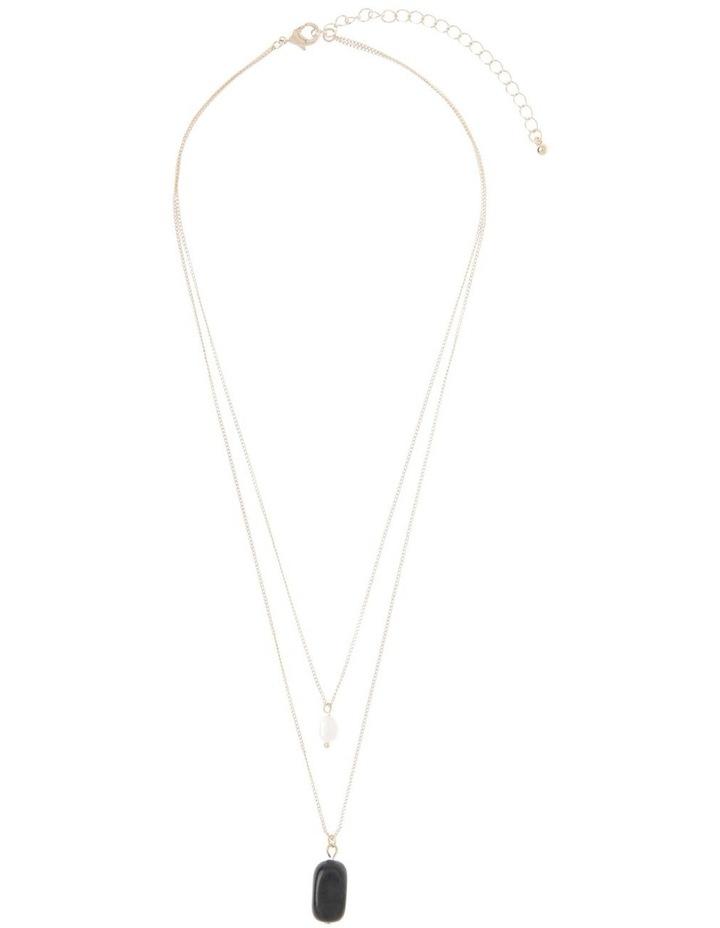 Semi Precious Double Layer Pendant Necklace image 2