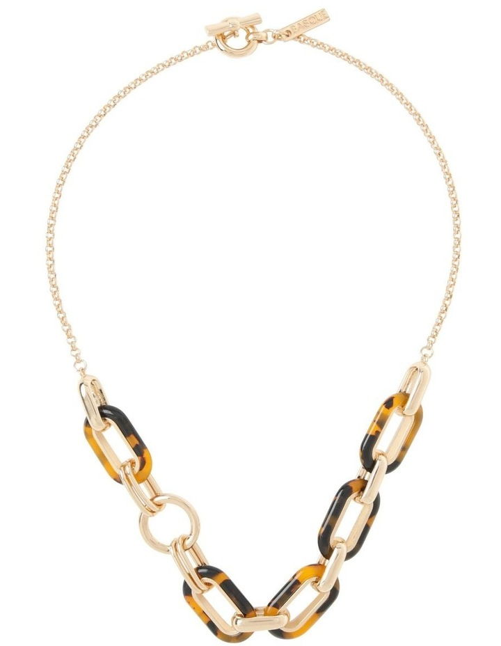 Tortoiseshell T-Bar Chunky Chain Necklace image 2