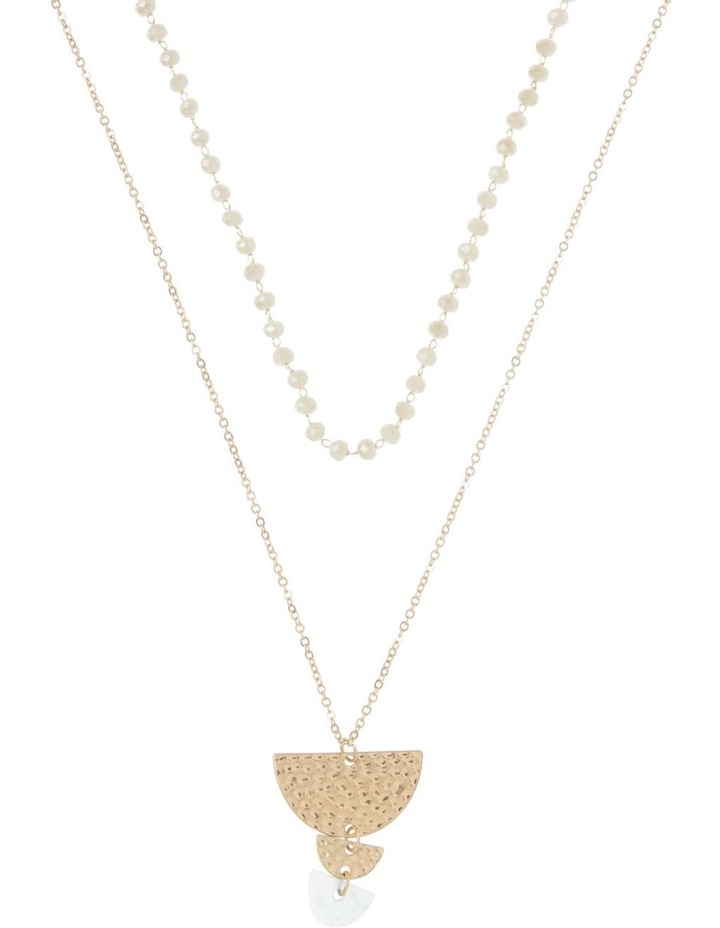 Semicircle Charm Layered Necklace image 1