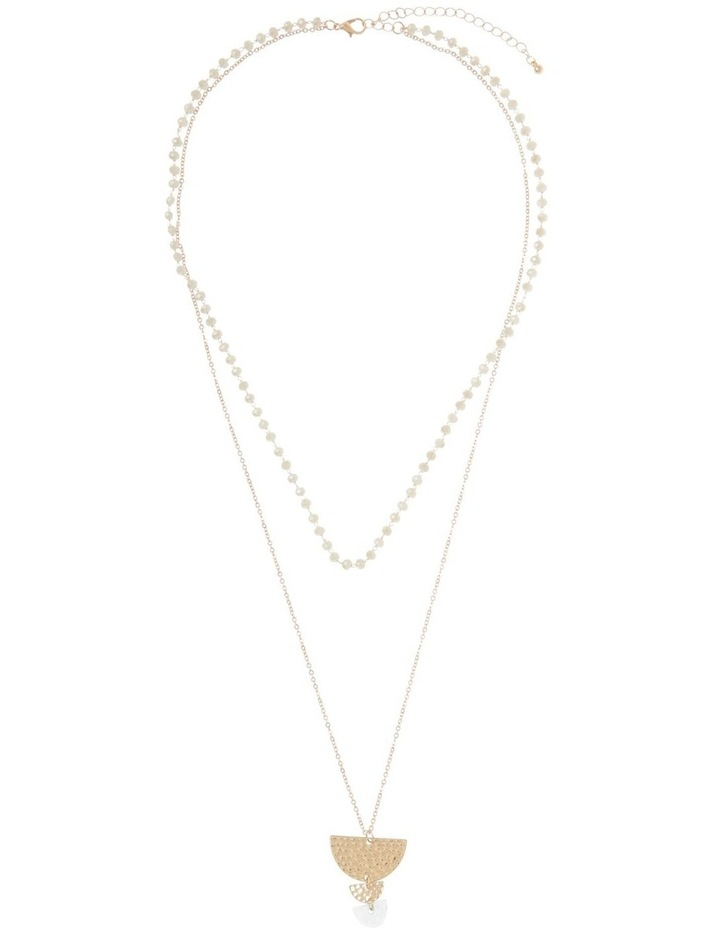 Semicircle Charm Layered Necklace image 2