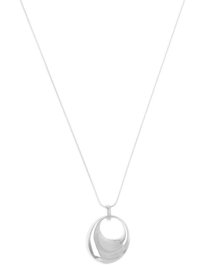 Hoop Pendant Necklace with Long Chain image 1
