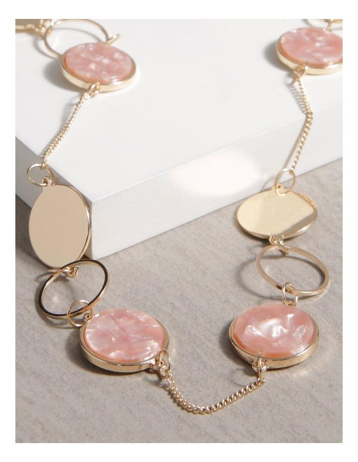 Resin & Metal Disc Long Necklace image 3
