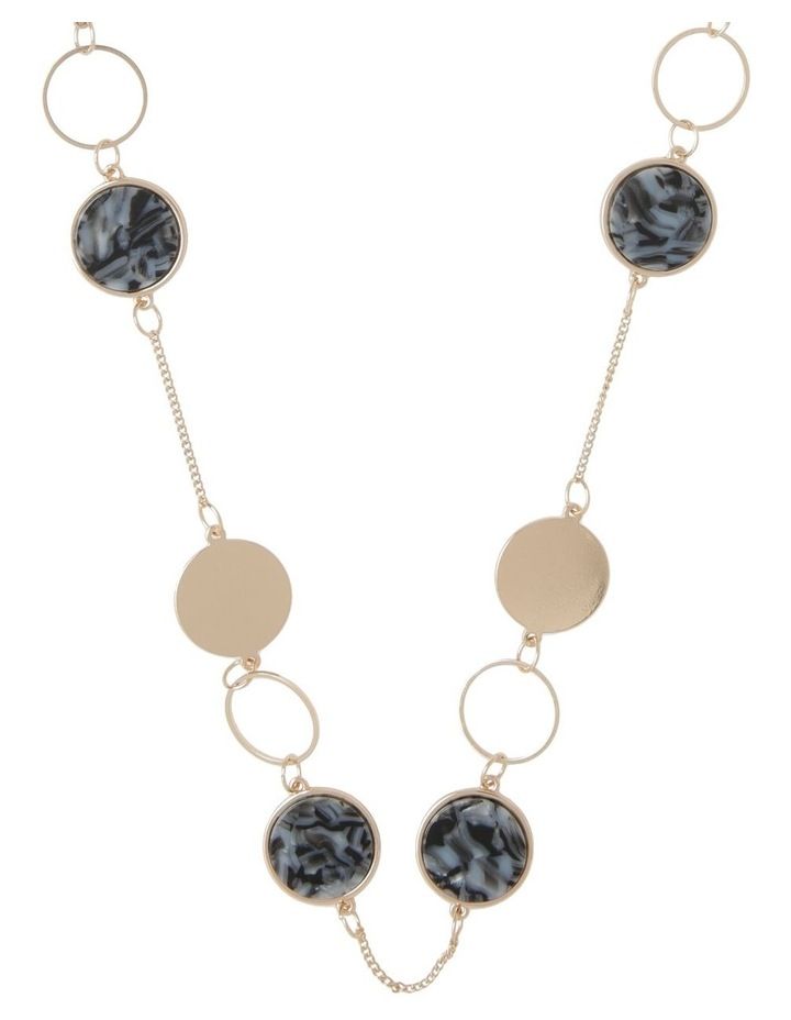 Resin & Metal Disc Long Necklace image 1