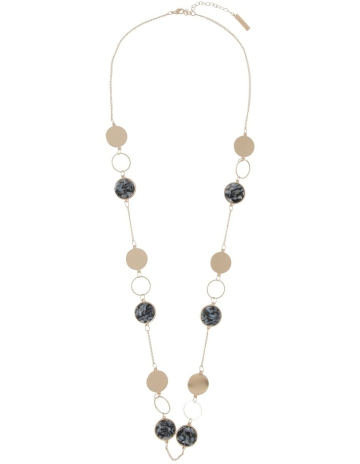 Resin & Metal Disc Long Necklace image 2