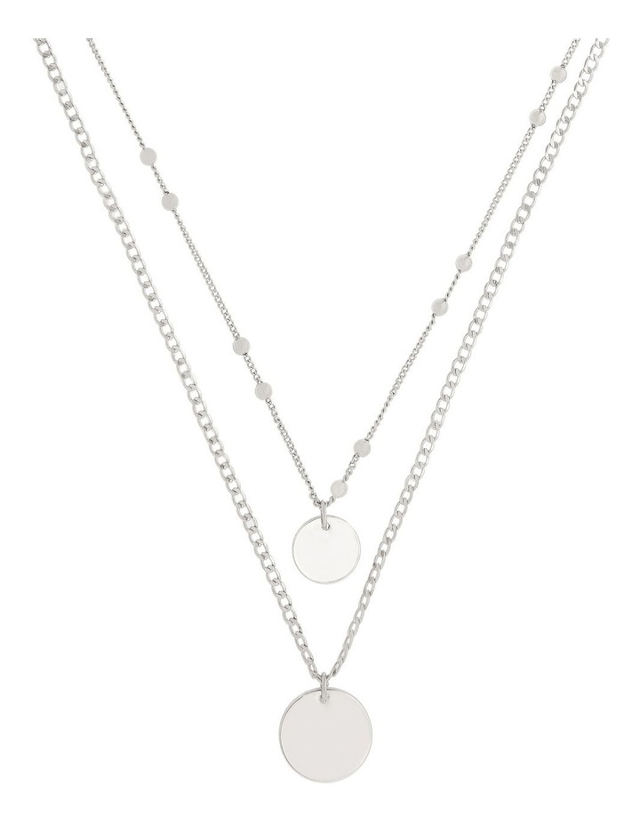 Double Disc Layered Necklace image 1