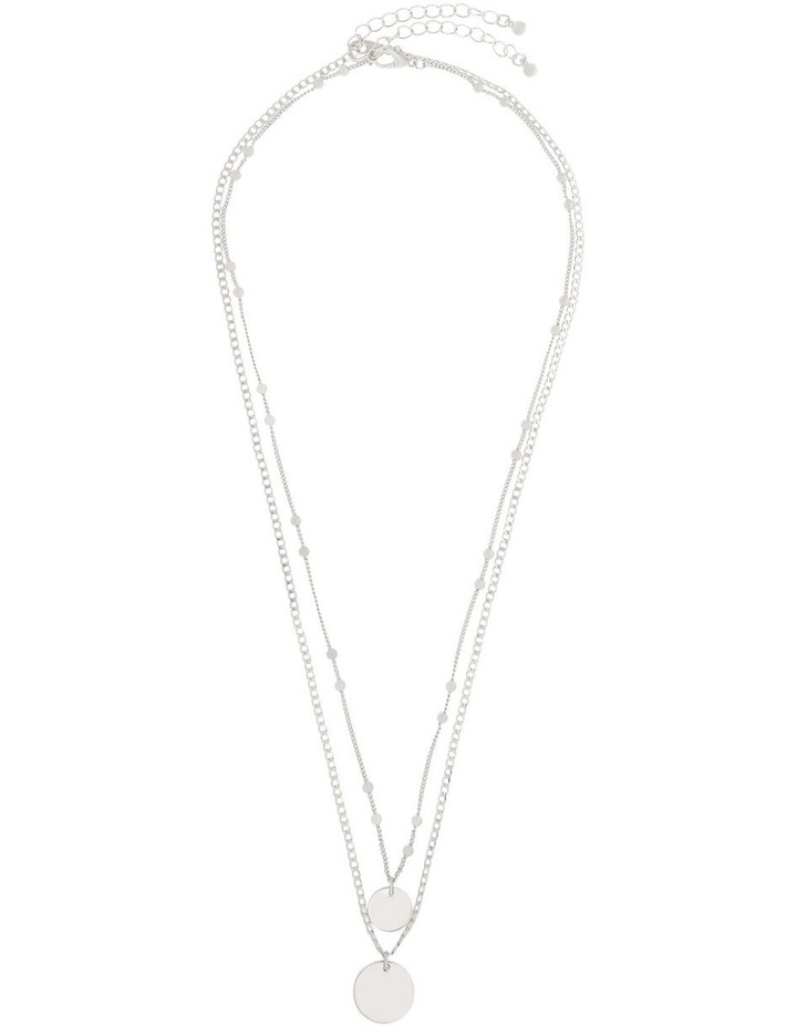 Double Disc Layered Necklace image 2