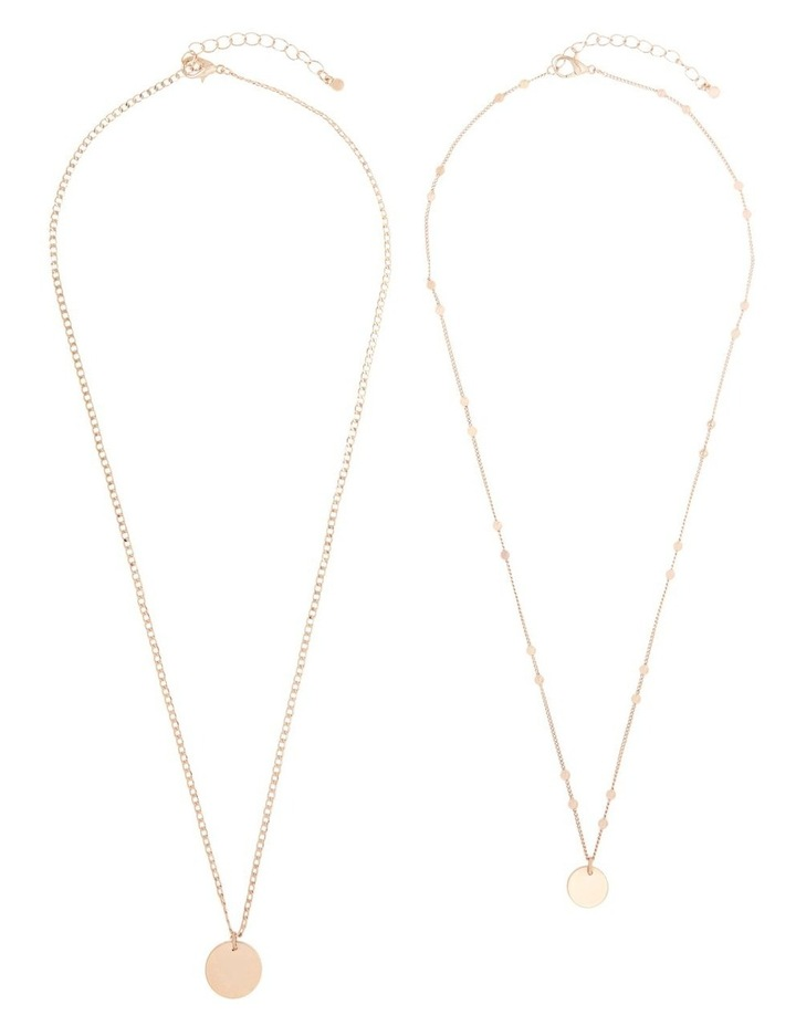 Double Disc Layered Necklace image 3