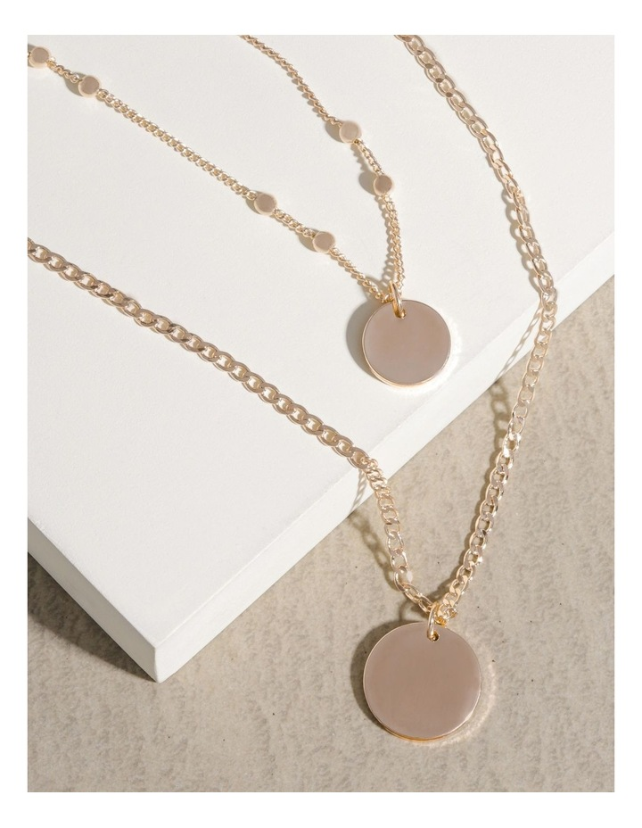 Double Disc Layered Necklace image 4