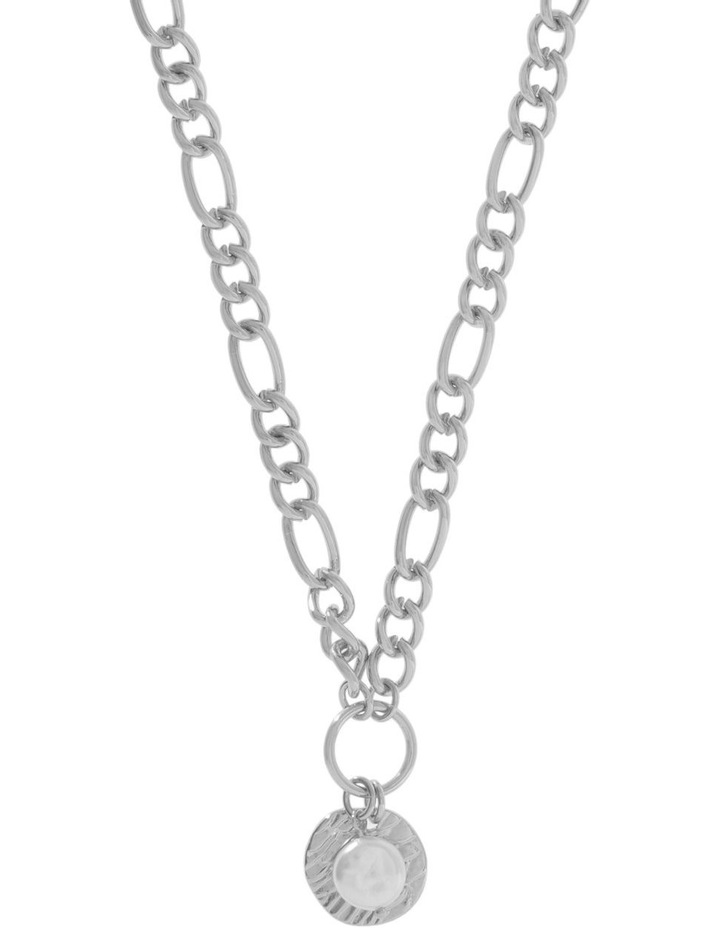Organic Pearl Statement Chain Necklace image 1