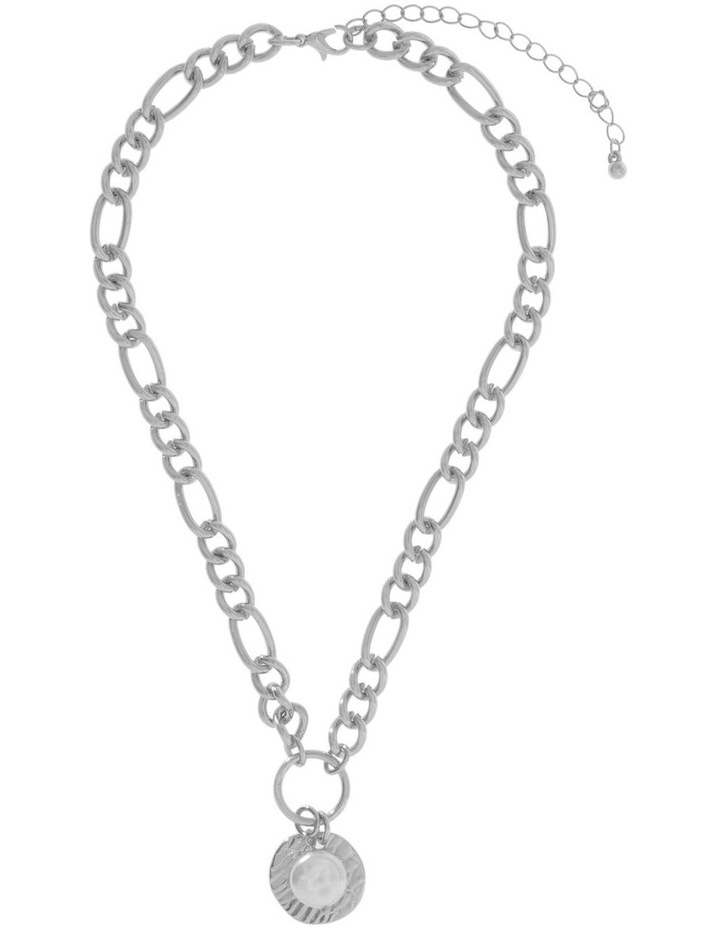 Organic Pearl Statement Chain Necklace image 2