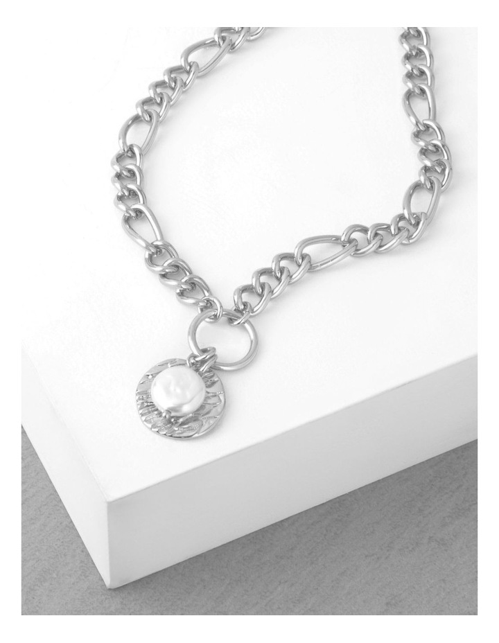 Organic Pearl Statement Chain Necklace image 3