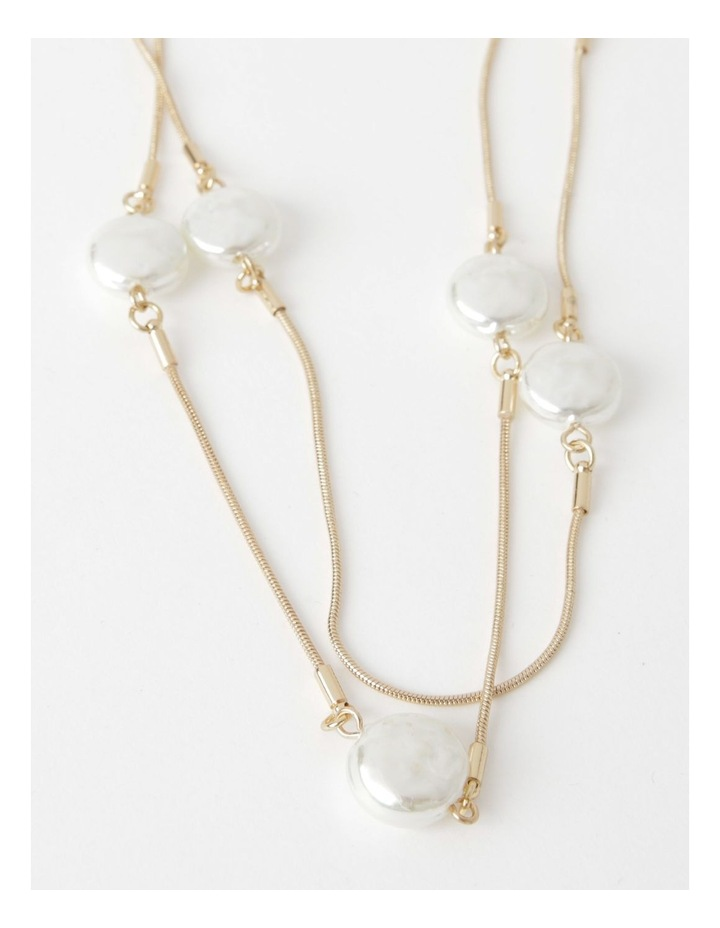 Snake Chain & Pearl Double Necklace image 1