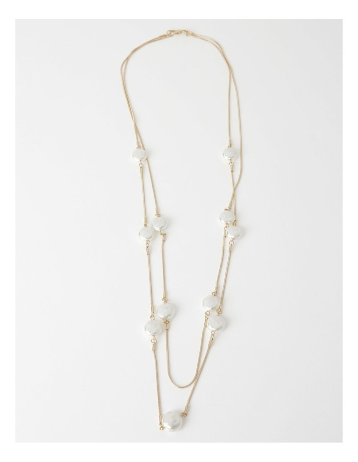 Snake Chain & Pearl Double Necklace image 2