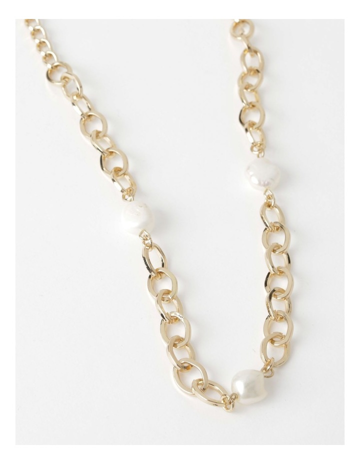 Long Freshwater Pearl Chain Necklace image 1