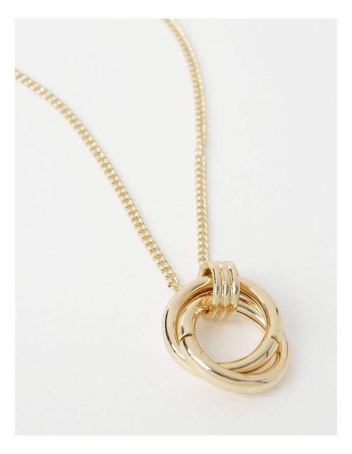 Double Circle Pendant Necklace image 1